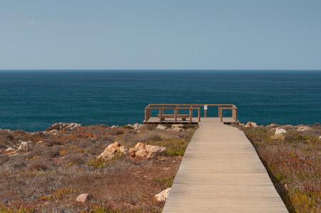 Atlantic ocean in Algarve coast, Portugal. Summer vacations Stock Photo
