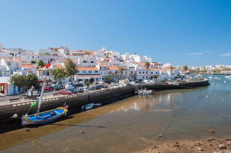 turistic: Ferragudo, Portugal. Little fisher and turistic town in Algarve