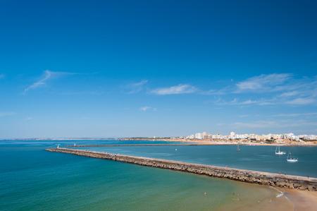 Breakwater in Portimao bay, Portugal