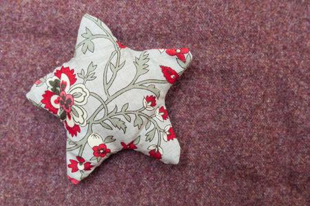 Handmade christmas decoration, Star made of fabric