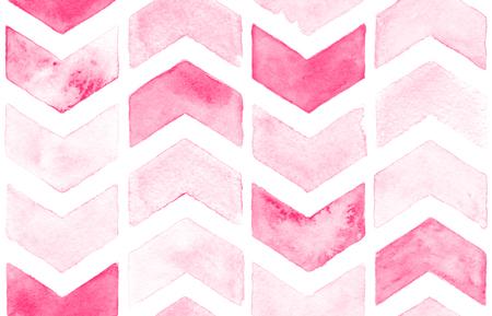 Rosa Chevron mit weißem Hintergrund. Aquarell nahtlose Muster für Gewebe Standard-Bild - 51872879