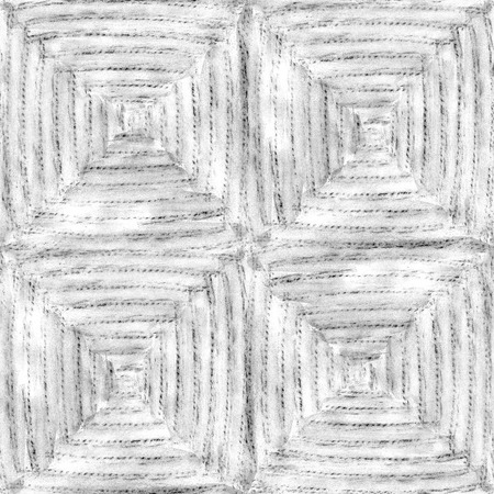 Hand drawn watercolor pencil woven seamless pattern for fabric.