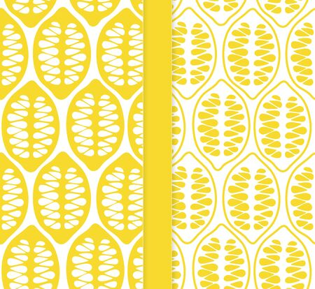 Lemons abstract design. Vector seamless pattern