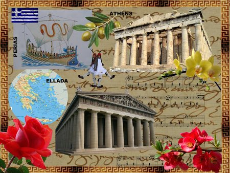 The most ancient historical places, welcome to Greece Stock Photo