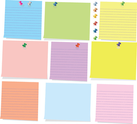 memorize: Colorful sticky notes