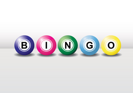 loto: 3D boules de bingo avec des couleurs diff�rentes et chaque balle a l'ombre. Facile � modifier, manipuler ou redimensionner. Illustration