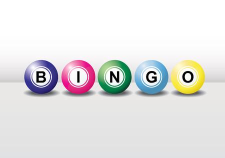 bingo: Bolas de bingo en 3D con diferentes colores y cada bola tiene la sombra. F�cil de editar, manipular o cambiar el tama�o.