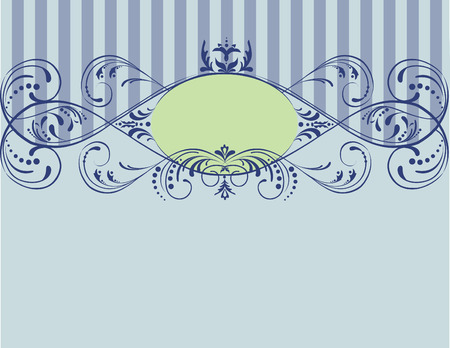 nice designed  floral frame for label or something else. It has space for your own  text or picture. Easy to edit, manipulate or change colors Ilustração