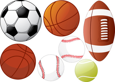 sides: There are four different balls lighted from different sides
