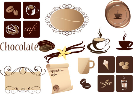 coffee: Coffee Elements set for design.  Illustration