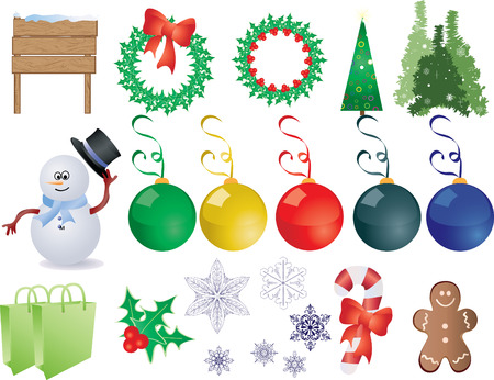 This is a set of christmas things, Individually group