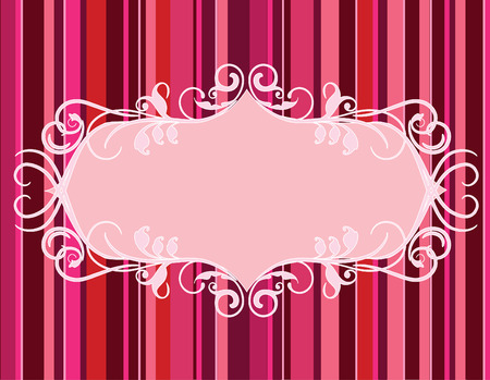 valentine background with frame for your own massage.