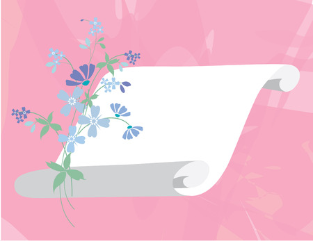 Spring banner background without transparent effect and watercolor effect Illustration