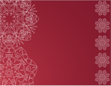 holiday celebrations: Christmas elegant red background with snowflakes