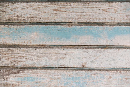 Old brown blue wooden background with planks. Wooden rustic texture. Banco de Imagens