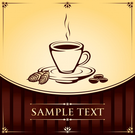 Cup of Coffee illustration Background Stock Vector - 18175957