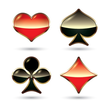jack of diamonds: Card suits isolated.