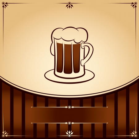 Beer tankard. graphic Illustration with place for text Stock Vector - 18176321