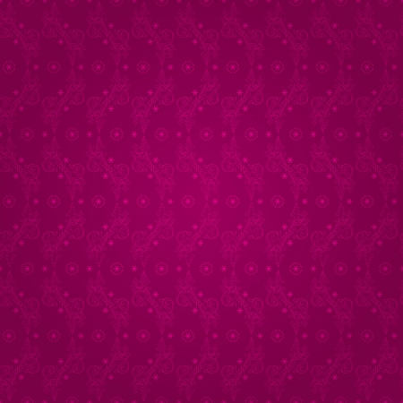 Floral vintage seamless pattern on a pink background  Vector