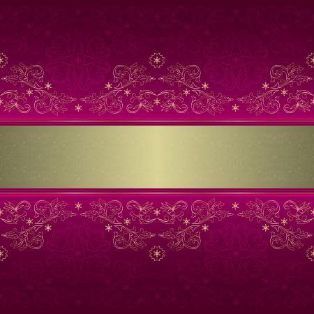 purple silk: Plantilla adornada con motivos florales transparente en un fondo rosado.