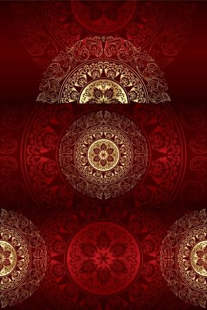 Set of vintage floral backgrounds. Vector illustration. Stock Vector - 18237205