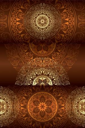 Set of vintage floral backgrounds. Vector illustration.