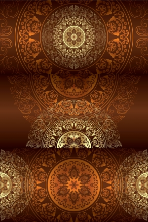 Set of vintage floral backgrounds. Vector illustration.