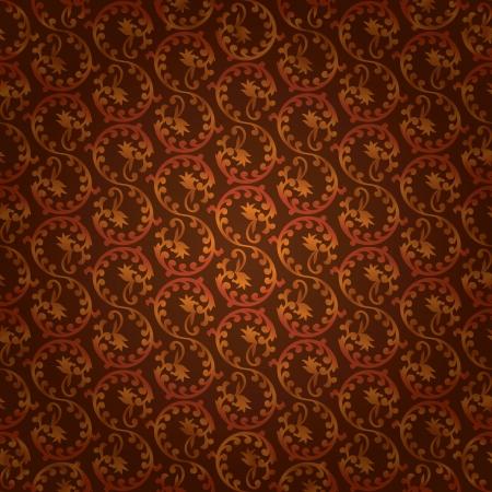 Brown vintage floral seamless pattern. Vector background Vector