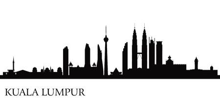 Kuala Lumpur skyline silhouet illustratie