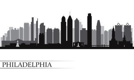 Skyline van de stad Philadelphia gedetailleerde silhouet Vector illustratie