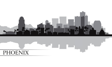 Phoenix city skyline silhouette background  Vector illustration Vector