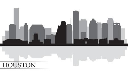 Houston Skyline Silhouette Hintergrund Standard-Bild - 24157519