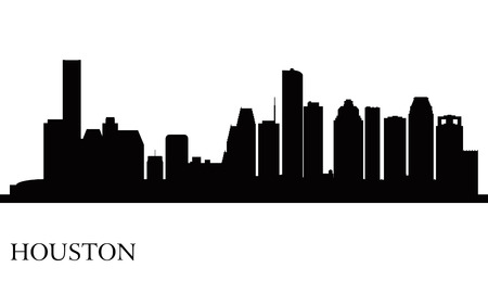 Houston city skyline silhouette background Illustration