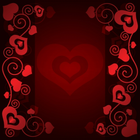Valentine's day background with hearts vector illustration Vector