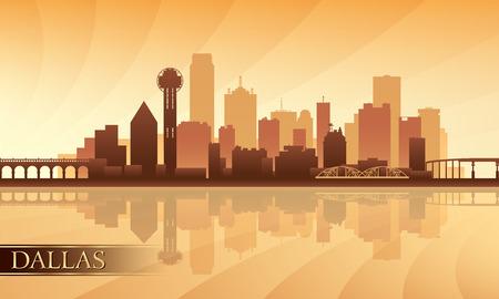 Dallas city skyline silhouette background, vector illustration Vector