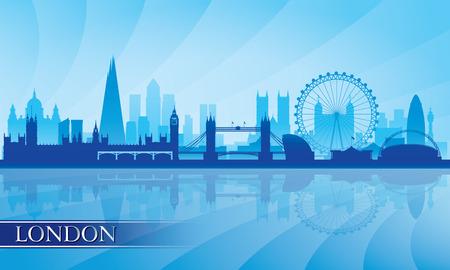 Londen skyline silhouet achtergrond, vector illustratie