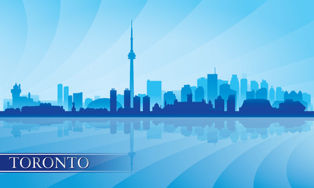 toronto: Toronto city skyline silhouette background, vector illustration  Illustration