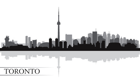 city skyline night: Toronto city skyline silhouette background, vector illustration  Illustration