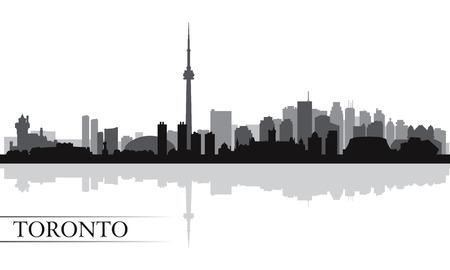Toronto skyline silhouet achtergrond, vector illustratie Stockfoto - 27898740