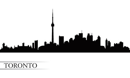 Toronto city skyline silhouette background, vector illustration