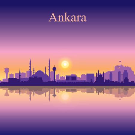 city background: Ankara city skyline silhouette background