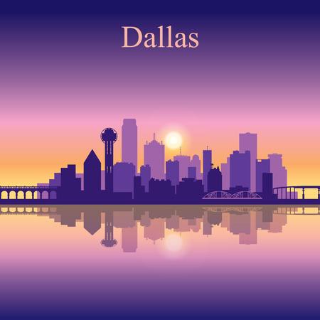 sky scraper: Dallas city skyline silhouette background