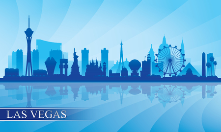 Las Vegas city skyline silhouette background, vector illustration