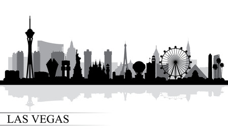 Las Vegas city skyline silhouette background, vector illustration 일러스트