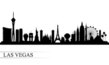 Las Vegas city skyline silhouette background, vector illustration Ilustração