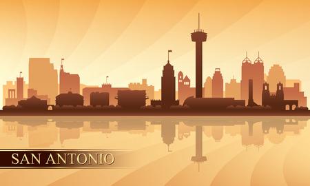 San Antonio city skyline silhouette background, vector illustration 向量圖像