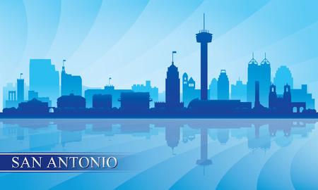 San Antonio city skyline silhouette background, vector illustration Illustration