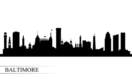 Baltimore city skyline silhouette background, vector illustration Ilustrace