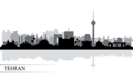 Tehran city skyline silhouette background, vector illustration Ilustrace