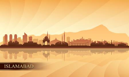 Islamabad city skyline silhouette background, vector illustration